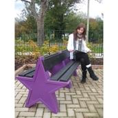 6 Seat Star Bench - Purple