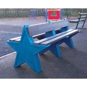 6 Seat Star Bench - Dark Blue