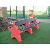 8 Seat Star Bench - Red Granite
