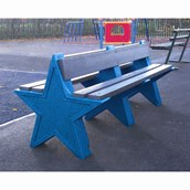 8 Seat Star Bench - Dark Blue