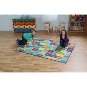 Rainbow 1 to 100 Numbers Carpet