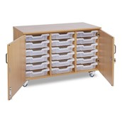 GALT - 18 Shallow Tray Units With Doors - Clear