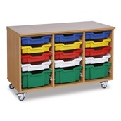 15 Deep and Shallow Tray Units - Colour Trays