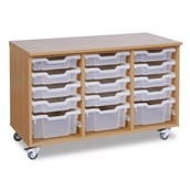 GALT 15 Deep and Shallow Tray Units - Clear Trays