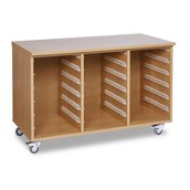 3 Bay Open Carcass Storage Unit Only - No Trays