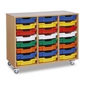 GALT Tall Triple Bay Units - Coloured Trays