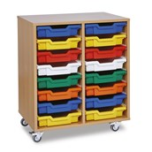 GALT Tall Double Bay Units - Coloured Trays