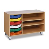 6 Shallow Tray Paper Storage Unit - Colour Trays