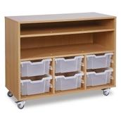 GALT - 6 Deep Tray Paper Storage Unit - Clear Trays