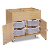 Mobile Kinderbox 4 Deep Trays - Clear Trays