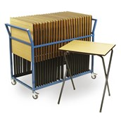 Classmates Examination Desks with Trolley - 25 Desks and Trolley