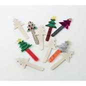Christmas Tree Craft Sticks - Pack of 10