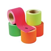 EduCraft Neon Scalloped Corrugated Card Border Rolls - 57mm x 15m - Pack of 5