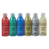 Classmates Glitter Paint - 300ml - Standard Assorted Colours - Pack of 6