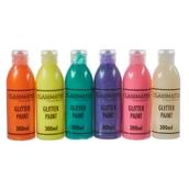 Classmates Glitter Paint - 300ml - Seasonal Assorted Colours - Pack of 6