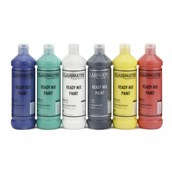 Classmates Ready Mixed Paint - 600ml - Assorted - Pack of 6