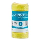 Classmates Colour Block Paints - Yellow - Pack of 6