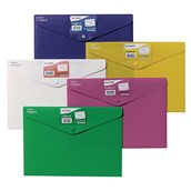 Snopake Polyfile ID Popper Wallet A4 Assorted - Pack of 5