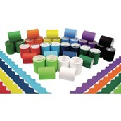 Fadeless® Scalloped Card Border Rolls - 57mm x 15m - Pack of 36