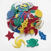 Space Corrugated Shapes - Pack of 100