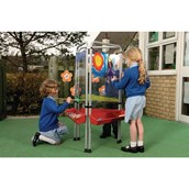 3 Sided Perspex Easy Clean Easel - Primary
