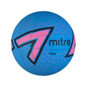 Mitre Attack Netball - Blue/Pink - Size 5