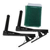 Dunlop Tour Table Tennis Net and Post - Green/Black