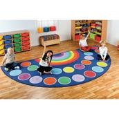 Rainbow Semi-Circle Carpet - Large