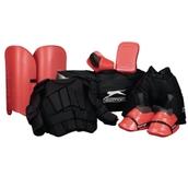 Slazenger Premium Hockey Goalkeeping Set - Red/Black - Junior
