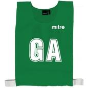 Mitre Netball Bib - Emerald - M - Pack of 7