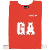 Mitre Netball Bib - Red - L - Pack of 7
