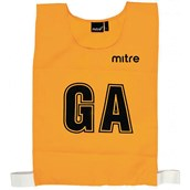 Mitre Netball Bib - Yellow - L - Pack of 7