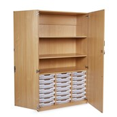 GALT 21 Tray Unit with Full Lockable Doors - Clear