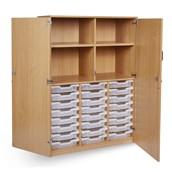 GALT 24 Tray Unit with Lockable Doors - Clear