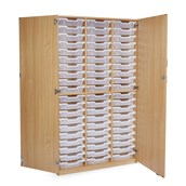 GALT - 60 Tray Unit With Doors - Clear