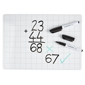 Classmates Lightweight Whiteboards - Non-magnetic - A4 Gridded - pack of 10