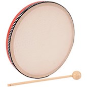 Hand Drum and Beater - Wood