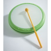 Hand Drum and Beater - Plastic