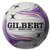 Gilbert Spectra Netball - White/Pink/Purple - Size 5