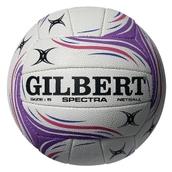 Gilbert Spectra Netball - White/Pink/Purple - Size 4
