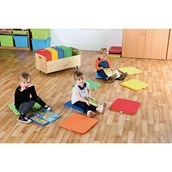 Rainbow Square Cushions - and Tuf 2 Trolley - pack of 32