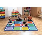 Rainbow Square Placement Carpet - Squares