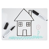 Classmates Lightweight Whiteboards - Non-Magnetic - A4 Plain - pack of 35