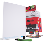 A4 Plain Whiteboards, Pens & Erasers Class Pack