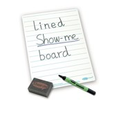 A4 Lined Whiteboards - Lined Boards, Pens & Erasers - pack of 100
