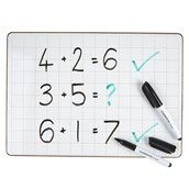 Classmates Rigid Whiteboards - Non-Magnetic - A4 Gridded - pack of 35