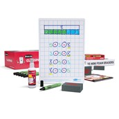 Show-me A4 Gridded Boards, Class Pack 35 Sets