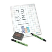 A4 Gridded Whiteboards - Gridded Boards, Pens & Erasers - pack of 100