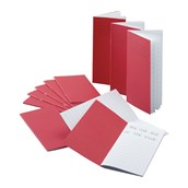 """6x4"""" (165x100mm) Exercise Book, 64 Page, 12mm Ruled, Red - Pack of 100"""