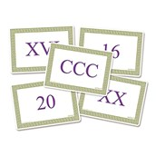 Roman Numeral Cards